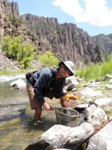 Justin with a brown in the Black Canyon