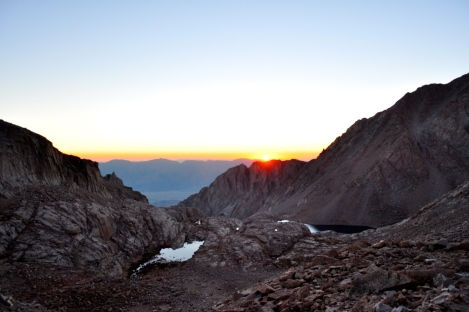 Looking eastward from the 99 switchbacks at sunrise