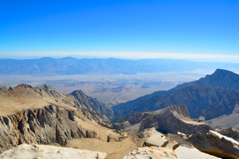 Looking down on Lone Pine from Mt. Whitney