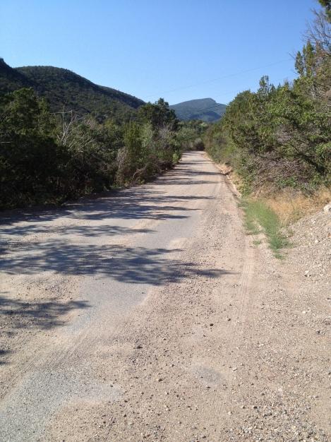 The beginning of Las Huertas canyon