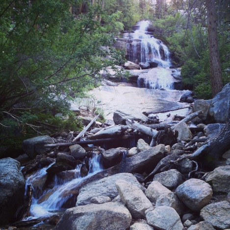 A small waterfall near Whitney Portal