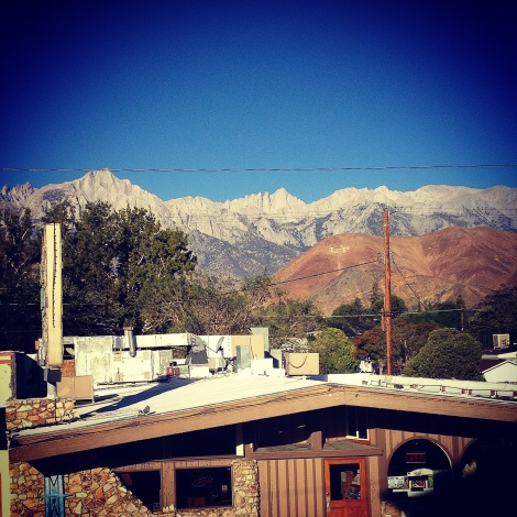 The view from Lone Pine Hostel