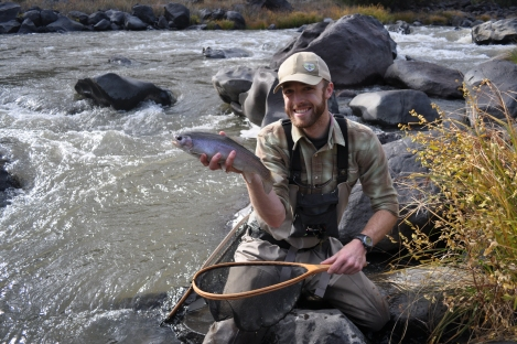 Rio Grande Gorge rainbow caught near the Little Arsenic area (poundmeister)
