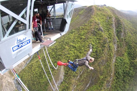 A look from the side of my Nevis Bungy jump