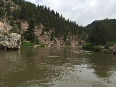 The calm before the storm on the Chama River